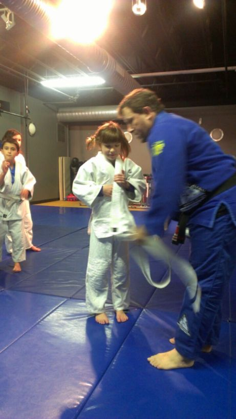 Ana getting her grey/white belt