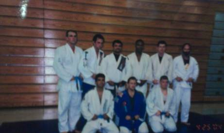 One of the first times Luiz came to Elizabethtown.  Josh is a purple belt in this pic.  Adam Arebalo is pitured with a blue belt.  Blue Belt Joe Howard is pictured in the back row with a blue belt.  Robin Friedley Sr. is in the back row on the right with the big beard.  .